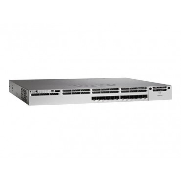 Cisco Catalyst 3850 12 SFP module slots,,1slot, switch., WS-C3850-12S-E by CISCO