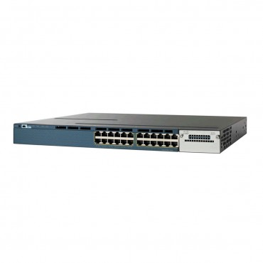 Cisco Catalyst 3650 Stackable 24 10/100/1000 PoE+,downlink1-Gigabit switch., WS-C3650-24PD-L by CISCO