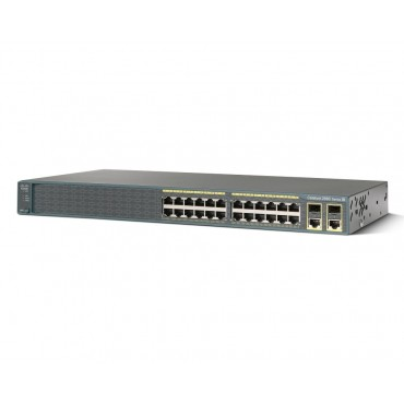 24 10/100BASE-TX ports (8,ofPoE) switch., WS-C2960+24LC-S by CISCO