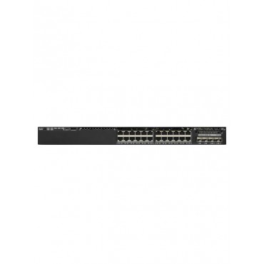 Cisco Catalyst 3650 Stackable 24 10/100/1000 Ethernet,downlink1-Gigabit switch., WS-C3650-24TD-S by CISCO