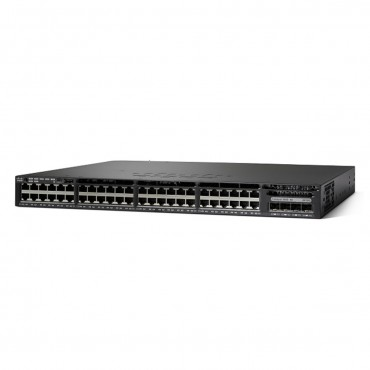 Cisco Catalyst 3650 Stackable 48 10/100/1000 Full,PoE switch., WS-C3650-48FD-S by CISCO