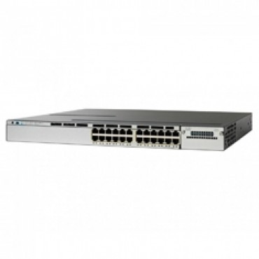 Cisco Catalyst 3850 Stackable,24ports, switch., WS-C3850-24T-S by CISCO
