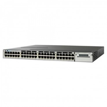 Cisco Catalyst 3850 Stackable,48PoE+ switch., WS-C3850-48P-E by CISCO