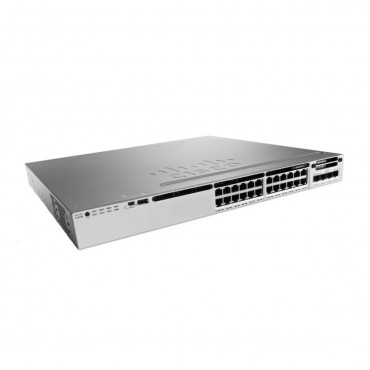 Cisco Catalyst 3850 Stackable 24 100M/1G/2.5G/5G/10G UPoE,ports,module switch., WS-C3850-24XU-E by CISCO
