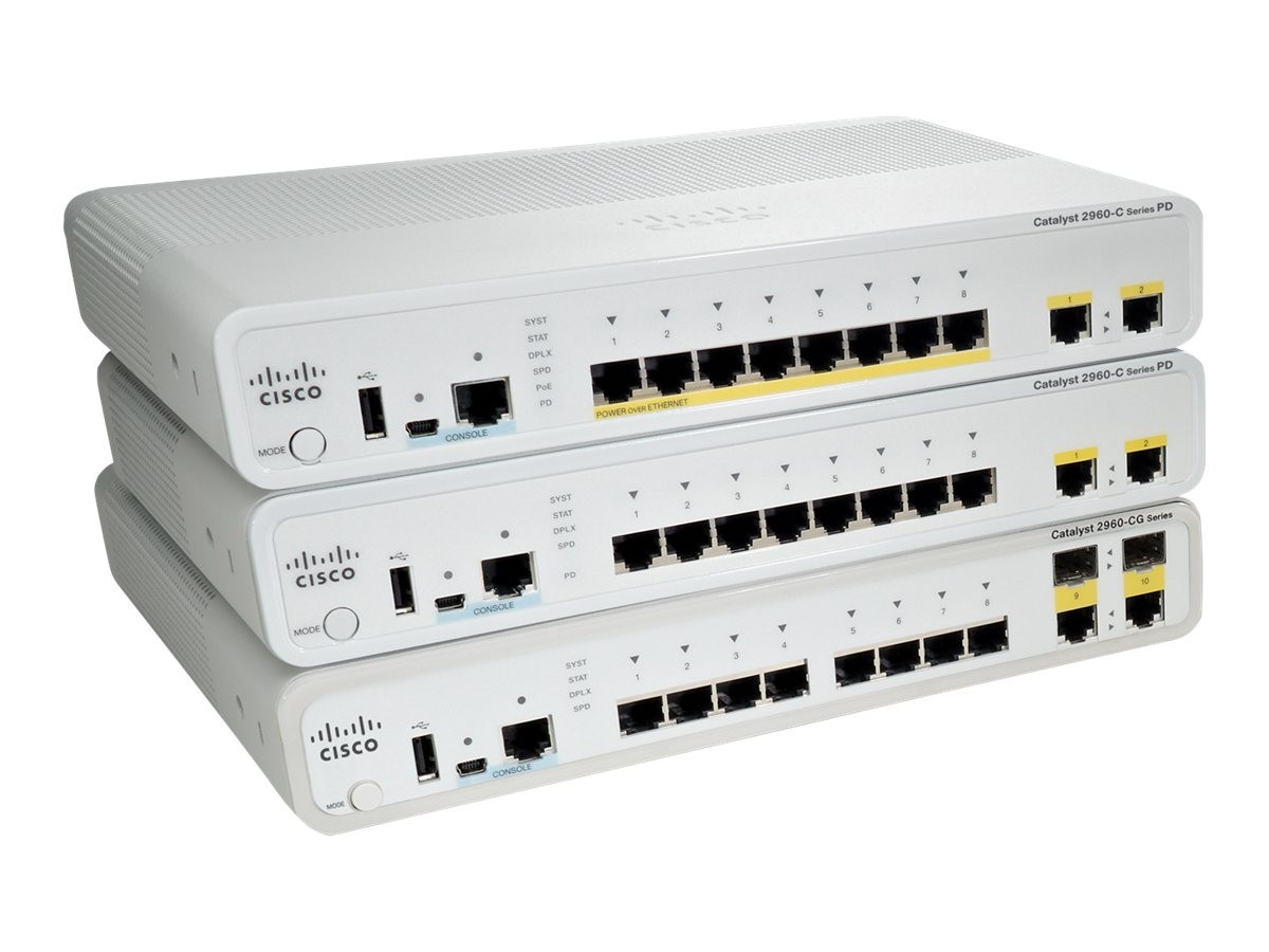 Asterit Networks Cisco Catalyst 2960 C Pdpsefe S Switch With Lan Base Vs Ip Ws C2960cpd 8pt