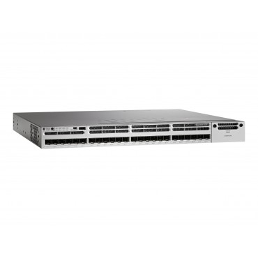 Cisco Catalyst 3850 24-port SFP+,transceiver,module switch., WS-C3850-24XS-S by CISCO