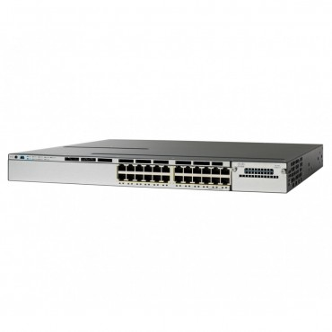 Cisco Catalyst 3850 Stackable,24PoE+ switch., WS-C3850-24P-L by CISCO