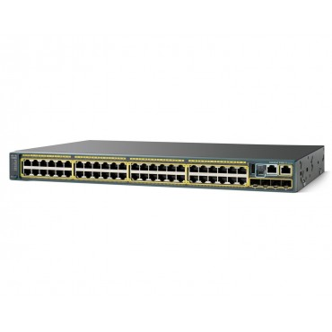 Cisco Catalyst 3650 Stackable 48 10/100/1000 Ethernet,downlink10-Gigabit switch., WS-C3650-48TQ-L by CISCO