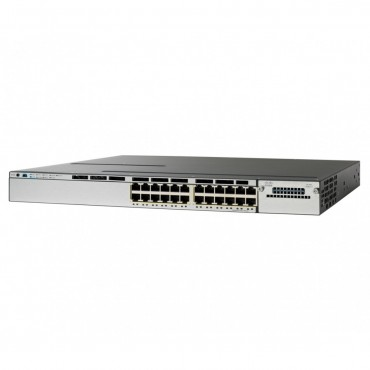 Cisco Catalyst 3850 Stackable,24PoE+ switch., WS-C3850-24P-E by CISCO