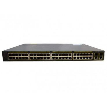 48 10/100BASE-TX PoE ports, switch., WS-C2960+48PST-L by CISCO