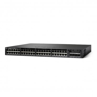 Cisco Catalyst 3650 Stackable 48 10/100/1000 Full,PoEtwo switch., WS-C3650-48FD-L by CISCO